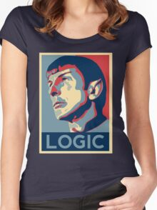 """Spock """"Logic"""" Poster Women's Fitted Scoop T-Shirt"""