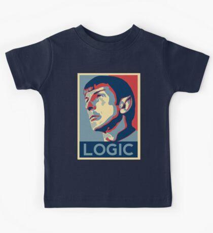 """Spock """"Logic"""" Poster Kids Tee"""