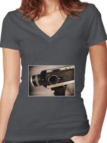 Bolex 250  Women's Fitted V-Neck T-Shirt