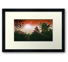 Sunset Or Sunrise Framed Print