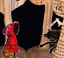 Little Red Riding Hood book sculpture by Justin Rowe