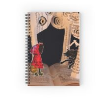 Little Red Riding Hood book sculpture Spiral Notebook