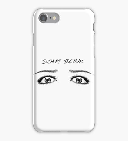 DOCTOR WHO INSPIRED DON'T BLINK iPhone Case/Skin
