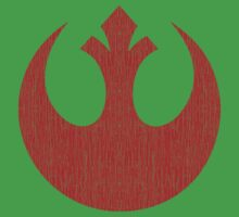 Rebel Alliance (red, distressed) Kids Tee