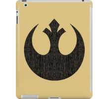 Rebel Alliance (black, distressed) iPad Case/Skin