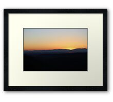 a sunset from Paradise...California Framed Print