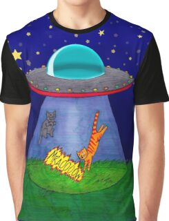 Aliens Want Kitties Graphic T-Shirt