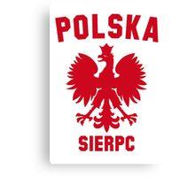 POLSKA SIERPC Canvas Print
