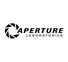 Aperture Laboratories Black Logo by MisterStricker