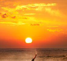 Sunset Surfing Sticker