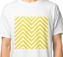 Chevron Yellow and White Pattern Classic T-Shirt