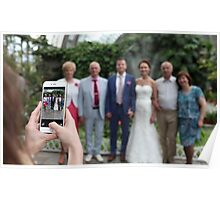 Wedding photos on a smartphone Poster