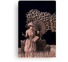 Now was her opportunity book sculpture Canvas Print