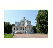 View Sliding Hill Palace in Oranienbaum Art Print