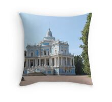 View Sliding Hill Palace in Oranienbaum Throw Pillow