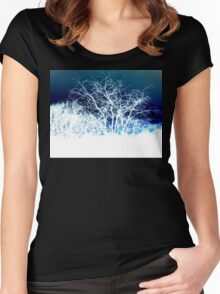 Winter is coming (landscape) Women's Fitted Scoop T-Shirt