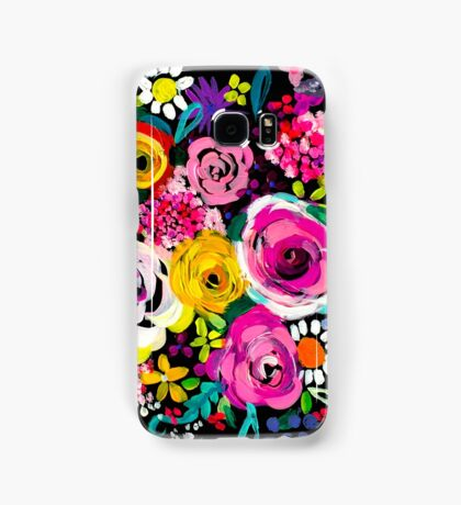 Les Fleurs Vibrant Floral Painting Print Samsung Galaxy Case/Skin