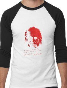 Albert Einstein - No problem can be solved ... Men's Baseball ¾ T-Shirt