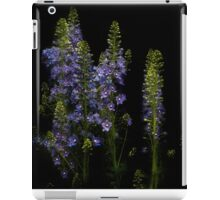 Row of blue delphiniums iPad Case/Skin