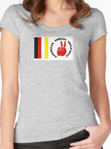 American Indian Movement with Flag Women's Fitted Scoop T-Shirt