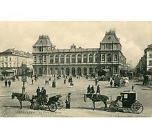 1890s Brussels Bruxelles North Railway Station Photographic Print