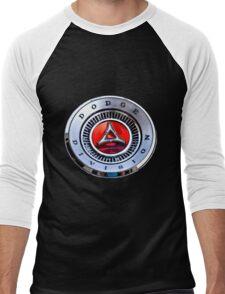 Classic Dodge Car Emblem  Men's Baseball ¾ T-Shirt