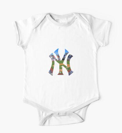 New York Yankees Stadium Logo One Piece - Short Sleeve