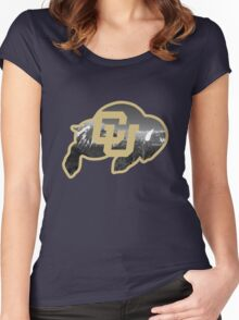 University of Colorado Boulder (mountains) Women's Fitted Scoop T-Shirt