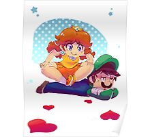Daisy and Luigi Poster