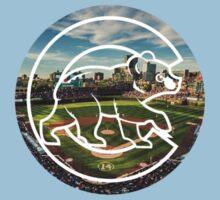 Chicago Cubs Stadium Logo Kids Tee