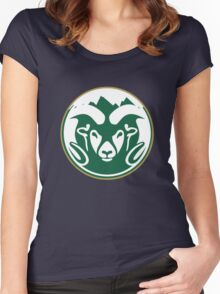 Colorado State University (mountains) Women's Fitted Scoop T-Shirt