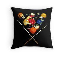 pool billard, billard balls Throw Pillow