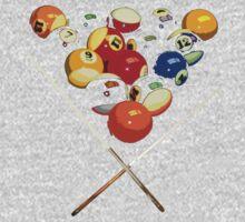pool billard, billard balls One Piece - Short Sleeve