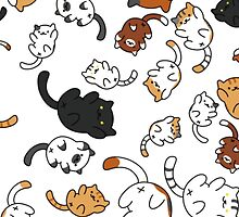 Neko Atsume Kitty Collage by LillyxDesigns