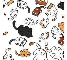 Neko Atsume Kitty Collage Photographic Print