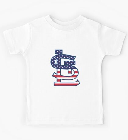 St Louis Cardinals Flag Logo Kids Tee