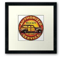 Woody wagon service Framed Print