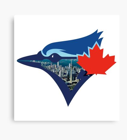 Toronto Blue Jays Skyline Logo Canvas Print