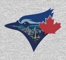 Toronto Blue Jays Skyline Logo One Piece - Long Sleeve