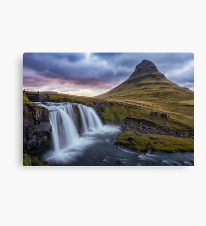 Running Away from the Setting Sun Canvas Print