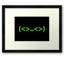 Kaomoji Alien Japanese Smiley Face Mark Emoticon Framed Print