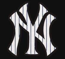New York Yankees Pinstripes Logo One Piece - Long Sleeve