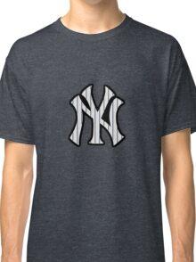 New York Yankees Pinstripes Logo Classic T-Shirt