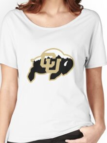 University of Colorado Boulder (mountains) Women's Relaxed Fit T-Shirt