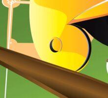 Yellow Baseball Sticker