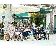 An Afternoon with the old neighbours Photographic Print