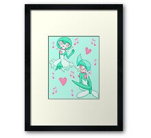 Minty Romance Framed Print
