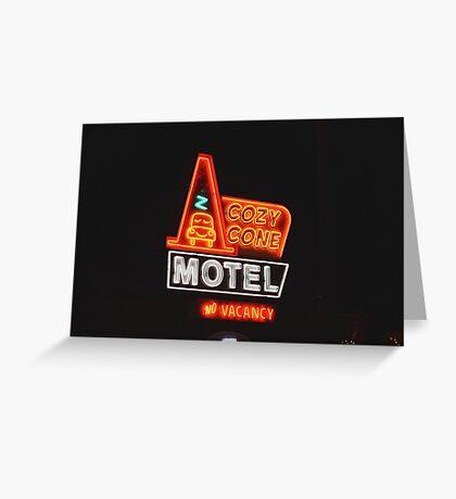 Cozy Cone Motel Greeting Card
