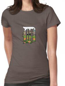 Detroit Tigers Stadium Logo Womens Fitted T-Shirt
