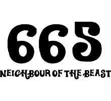 665: The neighbor of the beast Photographic Print